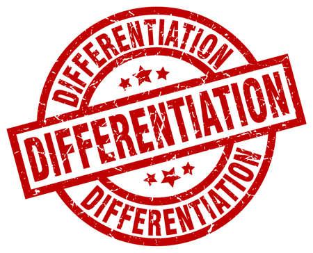 differentiation: differentiation round red grunge stamp