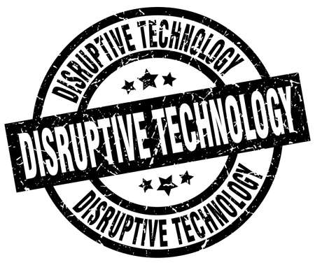 disruptive: disruptive technology round grunge black stamp