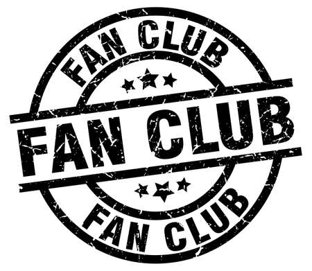 fan club round grunge black stamp Illustration