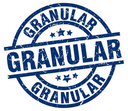 granular blue round grunge stamp
