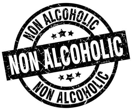 non alcoholic round grunge black stamp