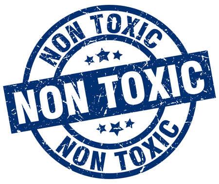 poison: non toxic blue round grunge stamp Illustration