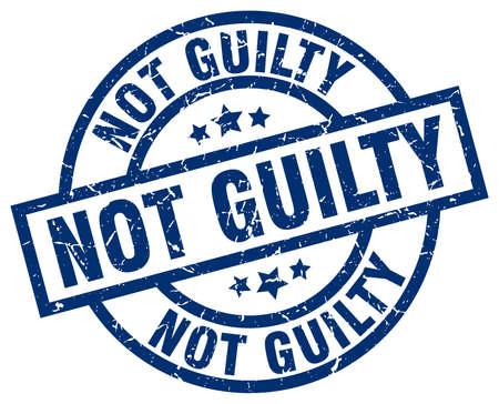 グランジ スタンプ ラウンド無罪ブルー