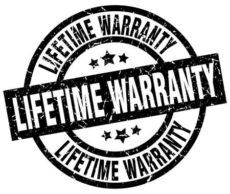 lifetime warranty round grunge black stamp Illustration