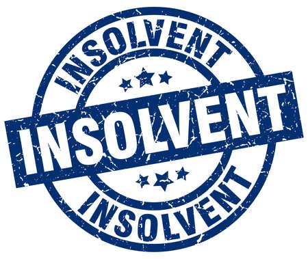 insolvent: insolvent blue round grunge stamp Illustration