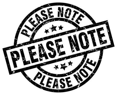 please note round grunge black stamp Illustration