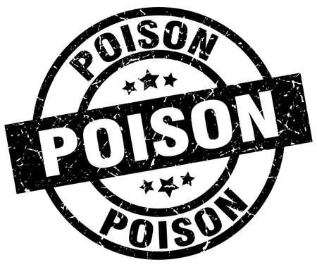 poison: poison round grunge black stamp