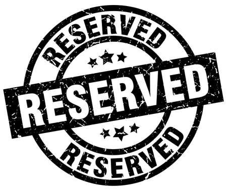 reserved round grunge black stamp Illustration