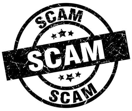 scam round grunge black stamp Illustration