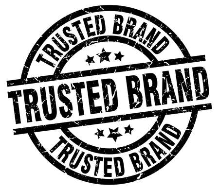 trusted: Trusted brand round grunge black stamp. Illustration