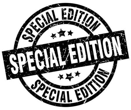 Special edition round grunge black stamp.
