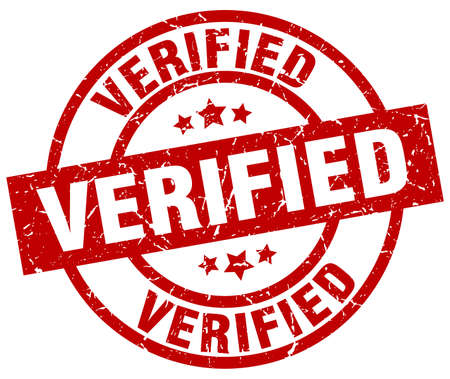 verified: Verified round red grunge stamp.