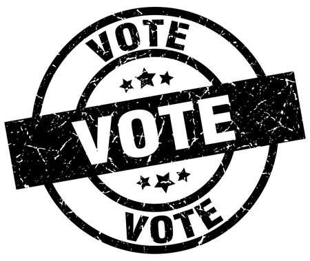 Vote round grunge black stamp. Illustration