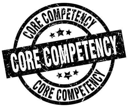 core competency round grunge black stamp Illustration