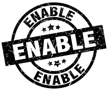 enable: enable round grunge black stamp