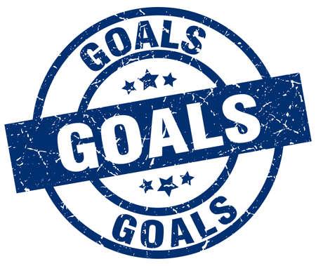 targets: goals blue round grunge stamp