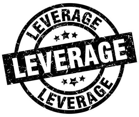leverage: leverage round grunge black stamp Illustration