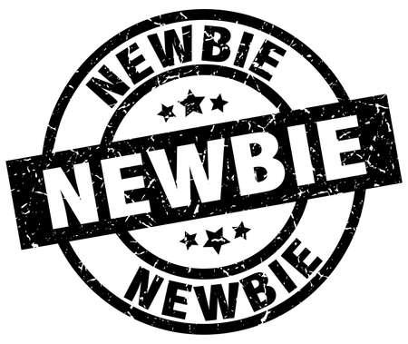 newbie: newbie round grunge black stamp