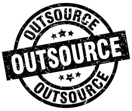 outsource: outsource round grunge black stamp Illustration