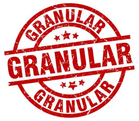 granular round red grunge stamp