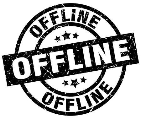 offline: offline round grunge black stamp