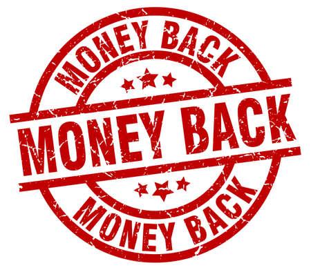 cash money: money back round red grunge stamp Illustration