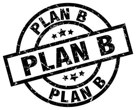 b: plan b round grunge black stamp