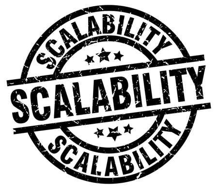 scalability round grunge black stamp