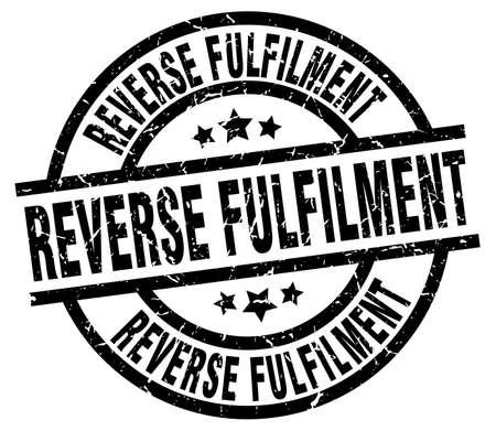 fulfilment: reverse fulfilment round grunge black stamp