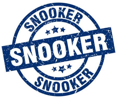 billiard: snooker blue round grunge stamp