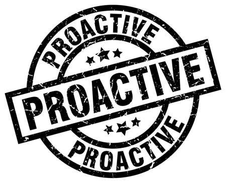 proactive: proactive round grunge black stamp Illustration