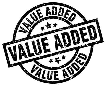 value added round grunge black stamp Illustration