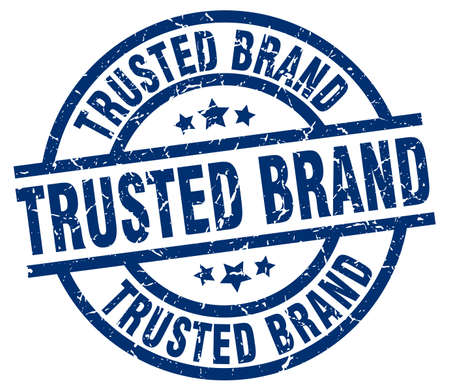 trusted: trusted brand blue round grunge stamp
