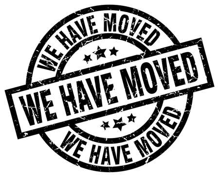 we have moved: we have moved round grunge black stamp Illustration
