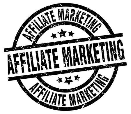 affiliate marketing round grunge black stamp