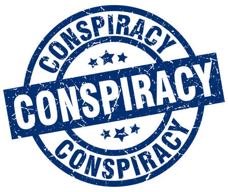 conspiracy: conspiracy blue round grunge stamp