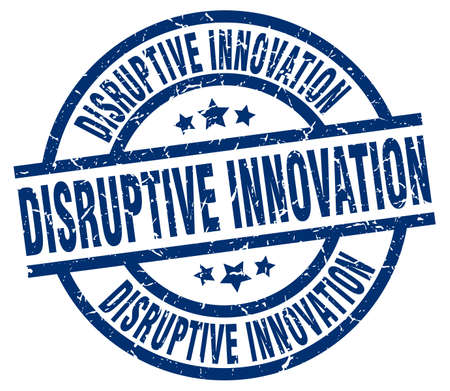 disruptive: disruptive innovation blue round grunge stamp Illustration