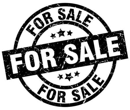 for sale round grunge black stamp Illustration