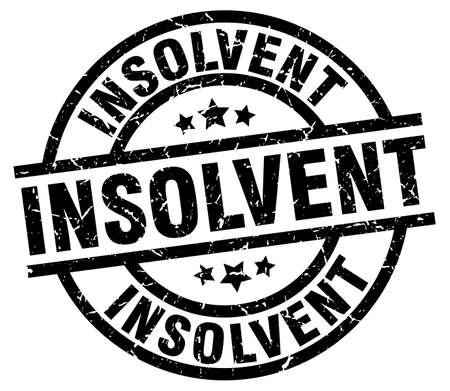 insolvent: insolvent round grunge black stamp