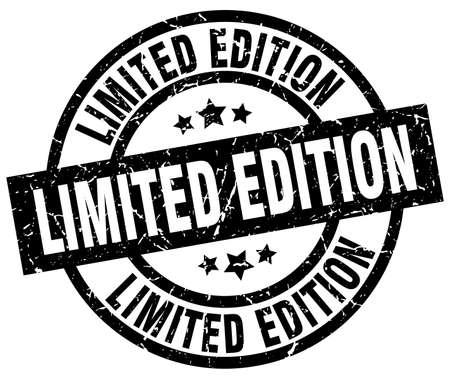 limited edition round grunge black stamp Illustration