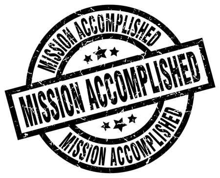 accomplish: mission accomplished round grunge black stamp