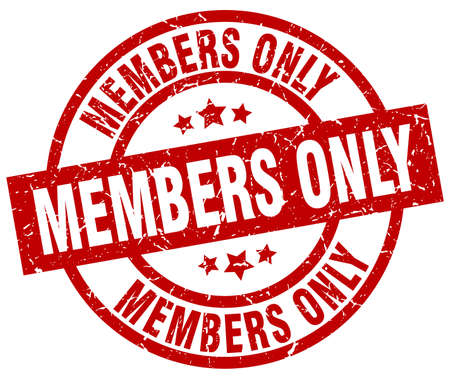 members only round red grunge stamp