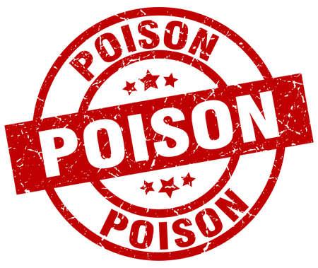 poison: Poison round red grunge stamp