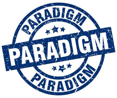 paradigm: Paradigm blue round grunge stamp