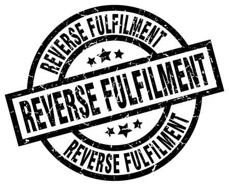 reverse: Reverse fulfilment round grunge black stamp