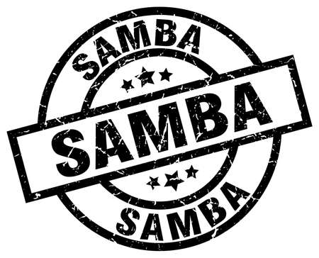 lesson: samba round grunge black stamp