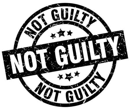 黒グランジ スタンプ ラウンド無罪