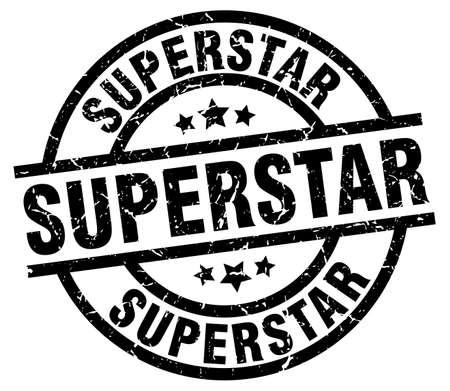 superstar: superstar round grunge black stamp Illustration