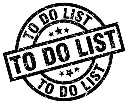 To do list round grunge black stamp