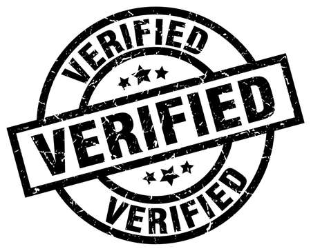 verified: verified round grunge black stamp